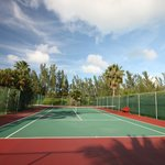 Tennis court, there was also a basketball court on site