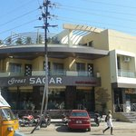 Great Sagar Restaurant with Juice Box next door.