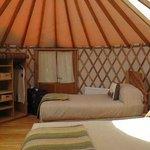 Interior de un Yurt