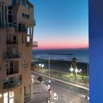 View from the balcony of our suite. Amazing twilight.