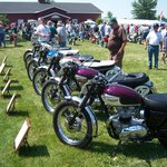 rows of vintage bikes.