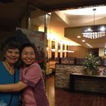 Aunt Carlene with Sally out waitress after our bellies were full!!!!