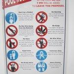 Poolside rules