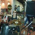Drummer/singer combo at the Pub