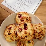 Homemade Cranberry & White chocolate Sconuts :-)
