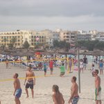 Volleyball on the beachfront