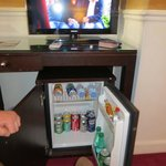 Mini fridge , mini bar  and LCD TV