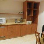 Mini kitchen in room