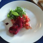 Tomatoe and beet salad