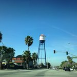 Placentia Water Tower - Read the slogan on the tower