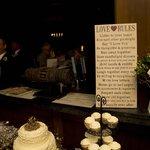Display on Bar - O Bistro Wedding