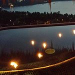Floating Candles in our Infinity Pool
