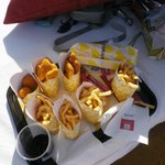 Nuggets and fries at the beach