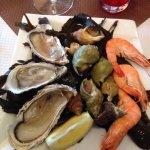 L'assiette de la mer du menu