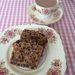 Bara brith and tea