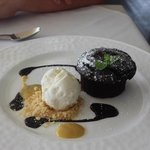 omg the chocolate lava cake is to die for
