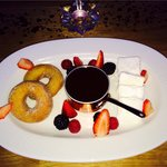 Scrumptious chocolate fondue for two on Valentine's Day!