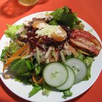 Mixed field green salad with Lime Chile dressing & chicken