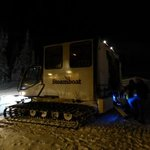 The snow cat that takes you to Four Points in the evening.