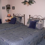 Riverine room with extra long twin beds