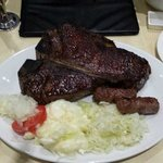 800g Texas T-Bone with salad