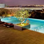 Swimming Pool with city view