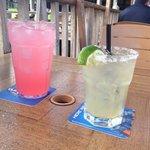 Margarita and strawberry lemonade