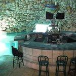 cave bar at the pool
