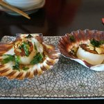 chargrilled scallop