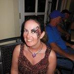 Face painting at Junkanoo