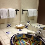 Beautiful sink and tile work