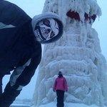 Light house under ice 01/2014 Looks like a ice dragon