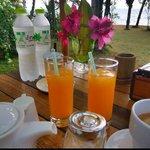 Fresh juice for breakfast