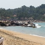 The beach over the steps from Samudra, much better