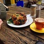 huge savoury muffin