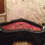 Bath with flowers