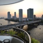 Beautiful sunsets with river side balcony room