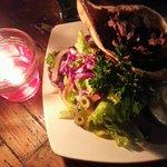 Pita shoarma and Salad ��