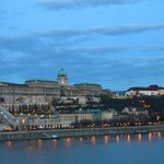 early morning view of the Danube River and the Buda Castle