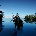 Infinity pool, decorated to suit the mood of the moment
