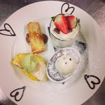 Valentines day assiette of desserts for two