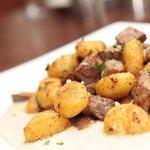 Gnocchi mit Kalbsleber auf Gorgonzola - Creme