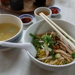 Pork egg noodles with soup