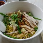 Pork egg noodles