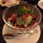 базиликовое мороженное с клубникой