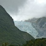 Franz Josef Glacier from part way down long trail