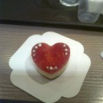 le cheesecake de la St Valentin!!!