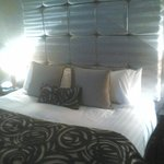 lovely headboard feature on superking bed