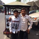 These two guys were my Tuk Tuk men. Can be found outside the hotel door. Give them business plea