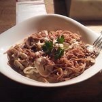 My plate: pasta with champignons